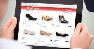 Shopping Oberfläche Screen