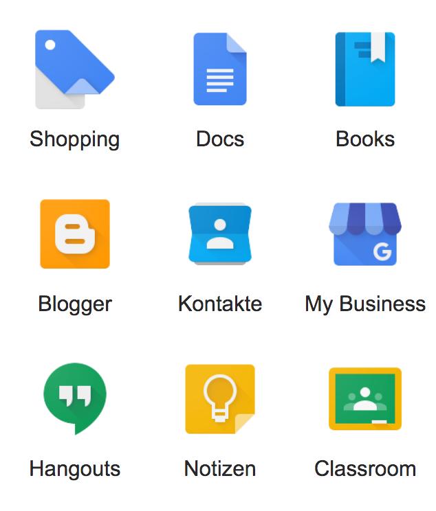 weitere Google Dienste