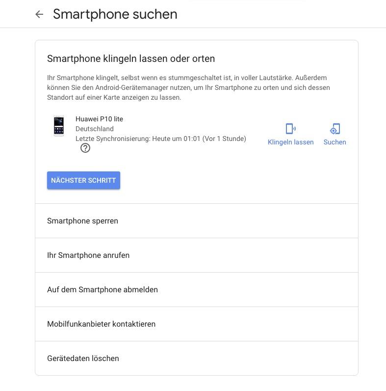 Mein Smartphone suchen